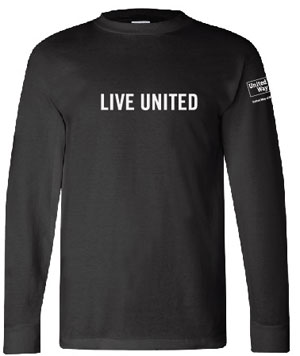 The classic long-sleeve t-shirt in black. 100% cotton, Made in the USA